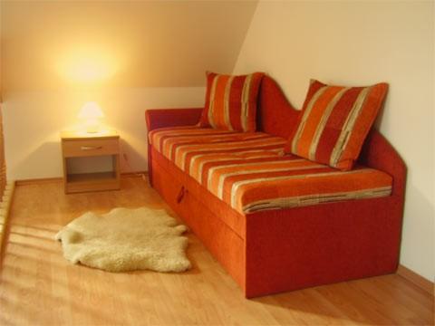 Horný apartmán sedačka
