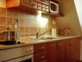 The upper apartment kitchen