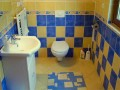 The upper apartment bathroom